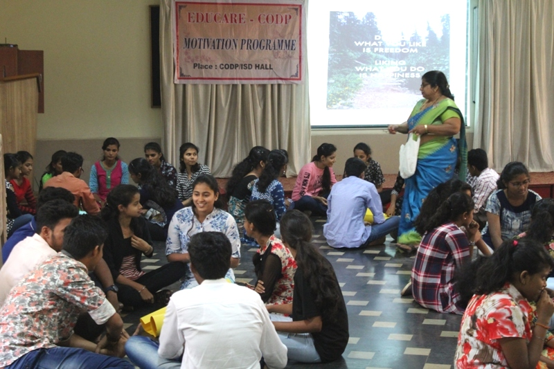 <b>CODP motivates students on Self-esteem & Stress Management</b>